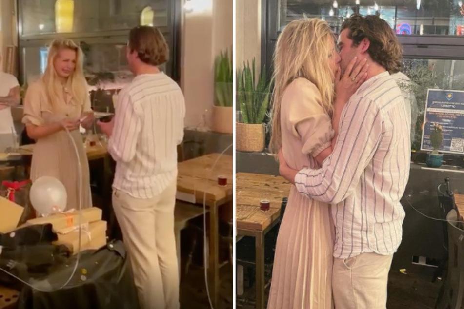 """Daniel Peukmann (34) macht seiner Carolina Noeding (30) einen Heiratsantrag. Die """"Köln 50667""""-Stars haben sich verlobt! (Fotomontage)"""