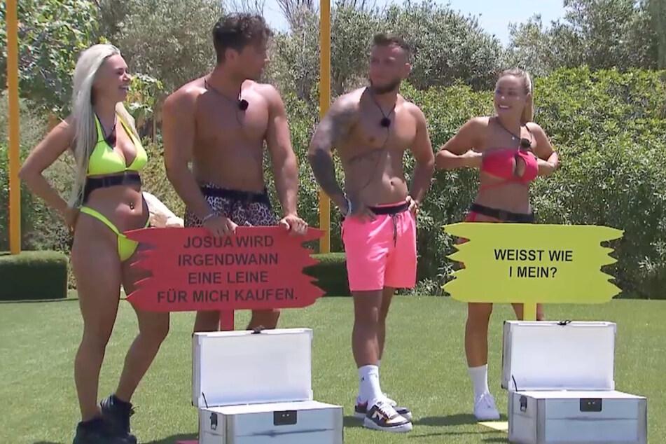 Die beiden Gewinnerpaare (v.l.n.r.) Sarah (27) und Josua (26) sowie Eugen und Vanessa (beide 28) - die letzten hätten eigentlich nicht dazuzählen sollen.
