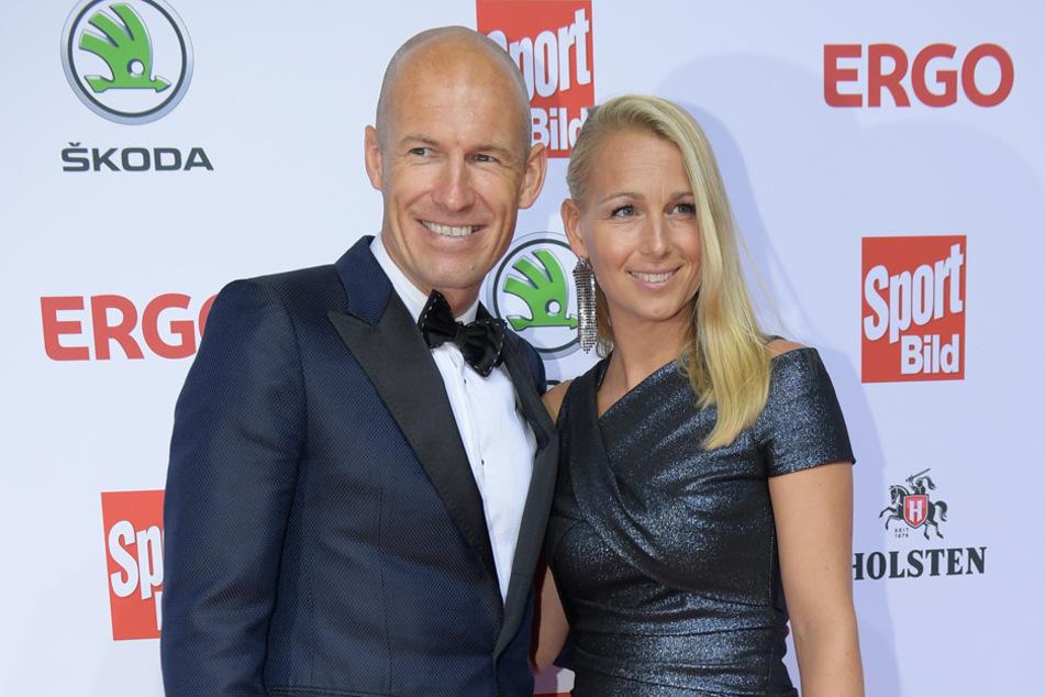 Arjen Robben und seine Frau Bernadien im August 2019.