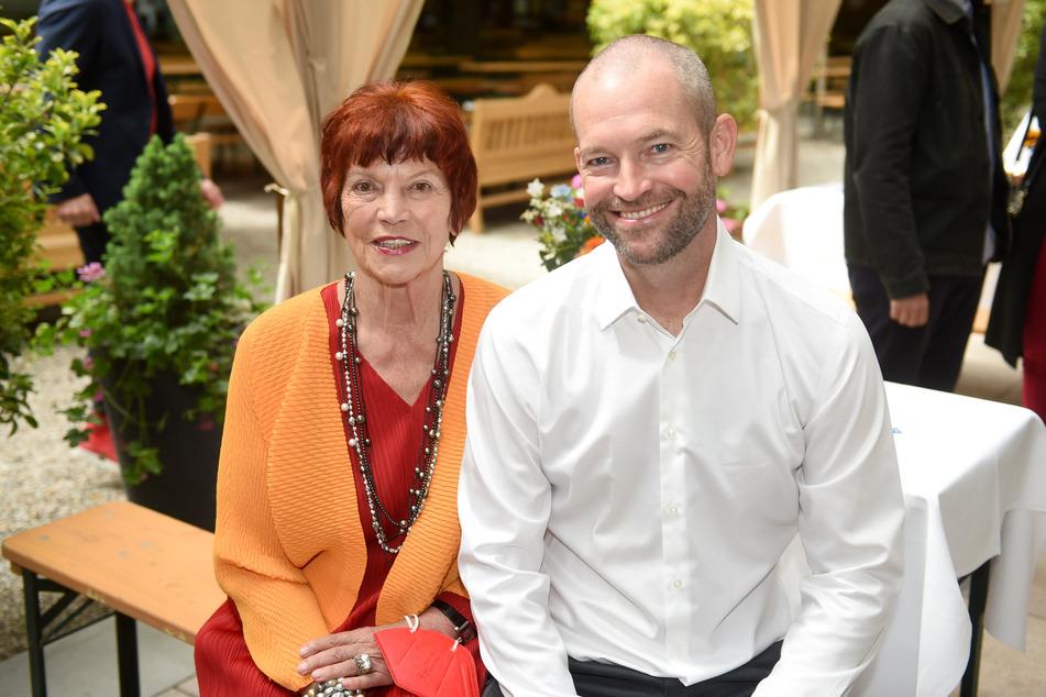 Regina Ziegler, (l, 77) Filmproduzentin Ziegler Film und James Farrell, VP Local Originals. Ziegler plant einen Film über die Corona-Pandemie.