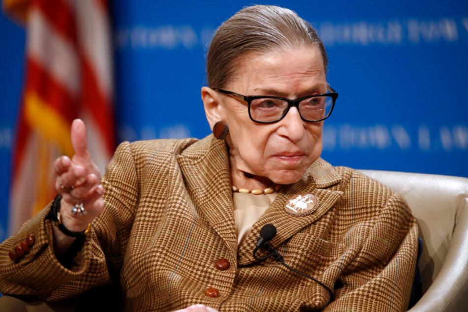 2020: Ruth Bader Ginsburg während einer Diskussion zum 100. Jahrestag der Ratifizierung des 19. Zusatzartikels im Law Center der Georgetown University.