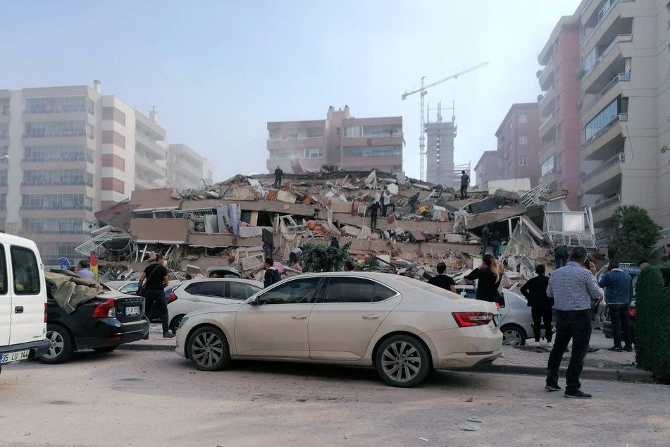 Das Erdbeben verursachte etliche Zerstörungen.