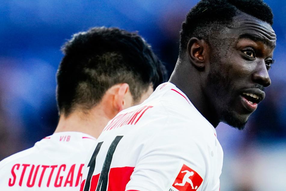 Er traf noch zur 2:1-Führung (26.) für den VfB: Silas Wamangituka (21).