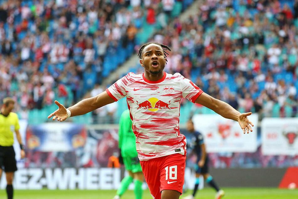 Christopher Nkunku traf nach einer Viertelstunde zum 1:0 für RB Leipzig.