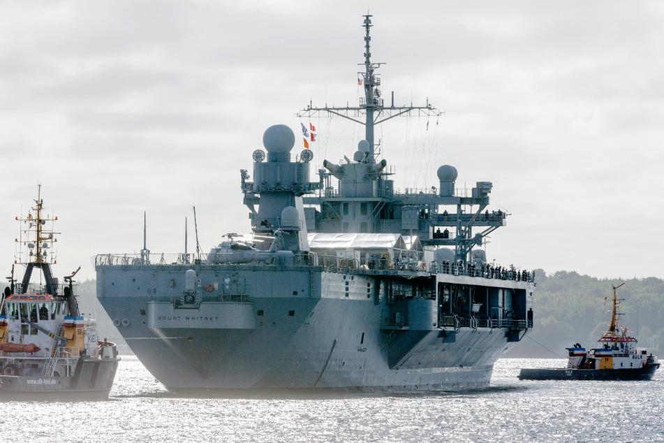 """Die """"Mount Whitney"""" und weitere Kriegsschiffe werden in Kiel einlaufen. (Archivbild)"""
