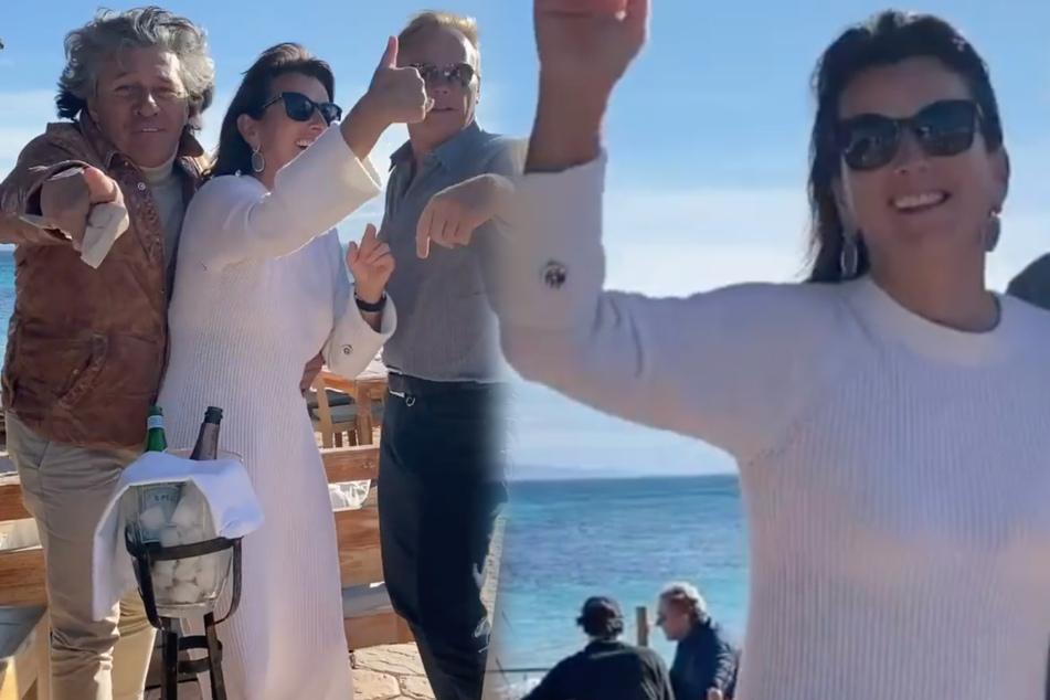 Claudia Obert feiert wilde Weihnachten und pfeift auf Corona-Abstand