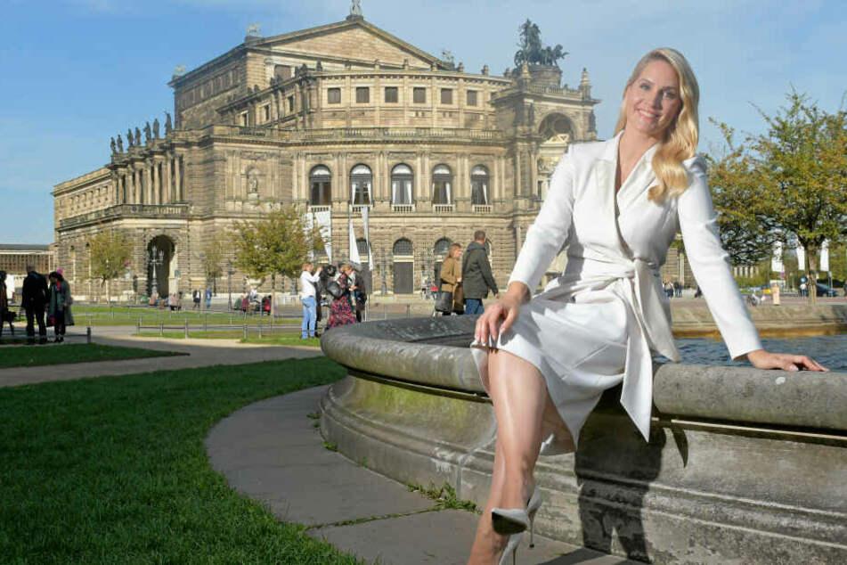 Judith Rakers (45) - hier bei der Verkündung ihres Moderation-Engagements in Dresden zum SemperOpernball 2020 - kommt zweimal an einem Tag im MDR.