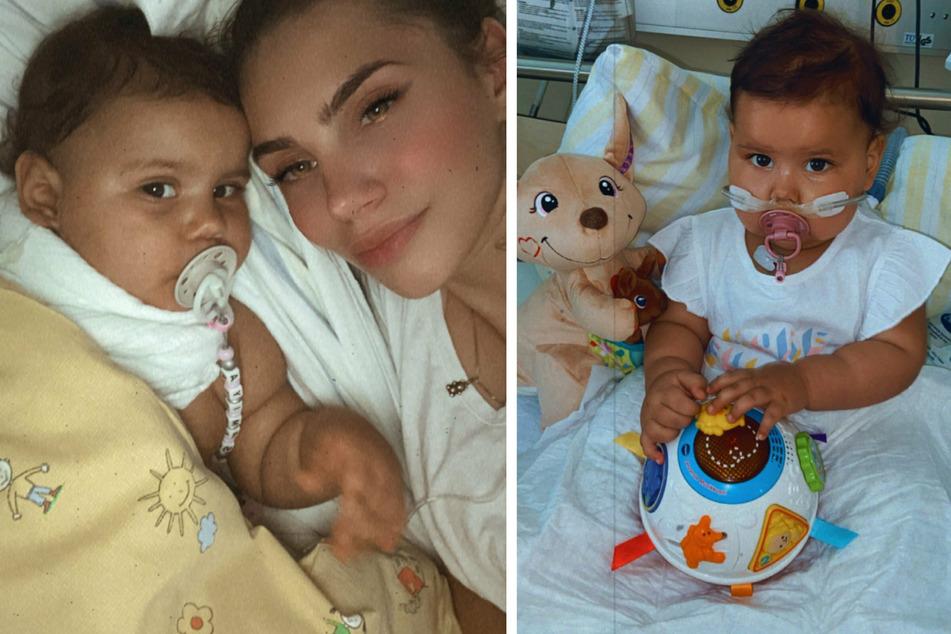 Samiya und ihre Mutter Angelique: Für das kleine Mächen zählt jede Minute.