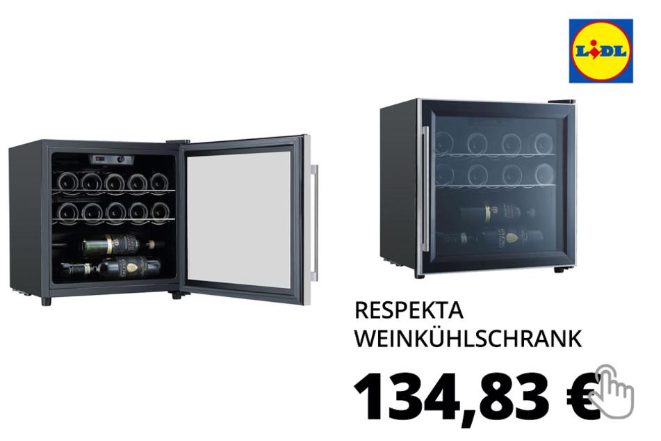 respekta Weinkühlschrank »WKS14«, 40 l Nutzinhalt