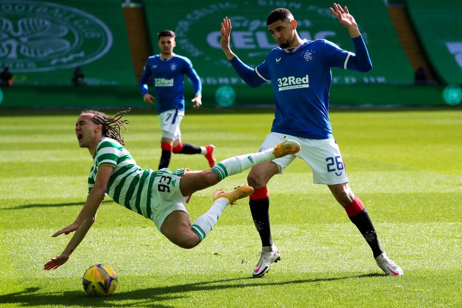 Jerome Boateng (32) und Olympique Lyon spielen in der Europa-League-Gruppenphase auch gegen die Glasgow Rangers, wo mit Leon Balogun (33, r.) ein weiterer gebürtiger Berliner und Ex-Bundesliga-Abwehrrecke aktiv ist.