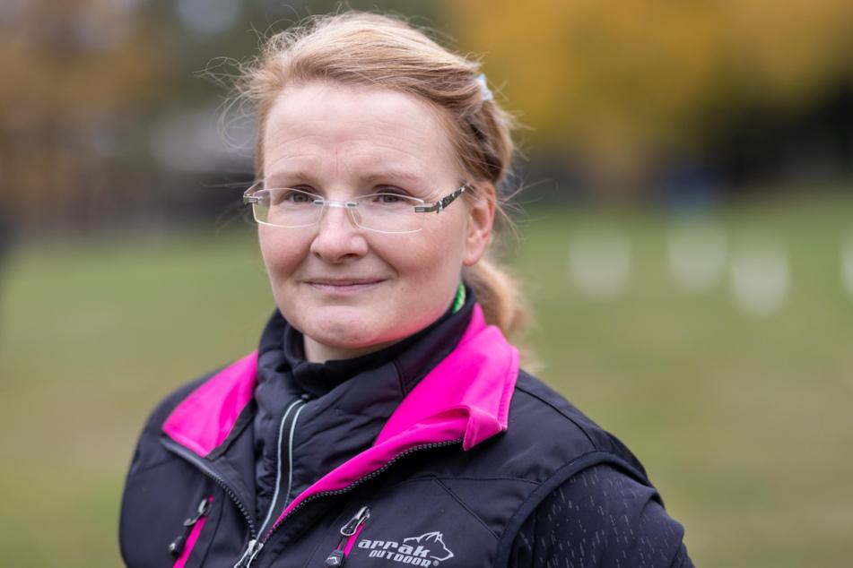 Hundetrainerin Cornelia Seidel (43) vom Hundesportverein Chemnitz-Borna bereitet der Lockdown große Sorgen.