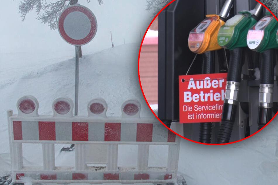 Winter-Chaos in Sachsen: Teilweise kein Diesel aus den Zapfsäulen!