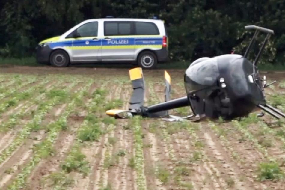 Hubschrauber-Crash in Südhessen! Offenbar Explosionsgefahr