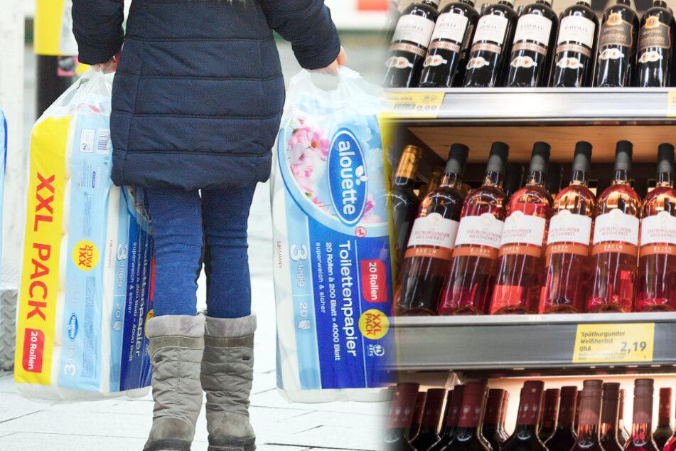 Die Deutschen haben es auf Klopapier abgesehen, Italiener und Spanier auf Wein.