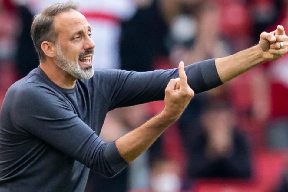 VfB-Coach Pellegrino Matarazzo (43) fordert eine Reaktion von seinem Team.