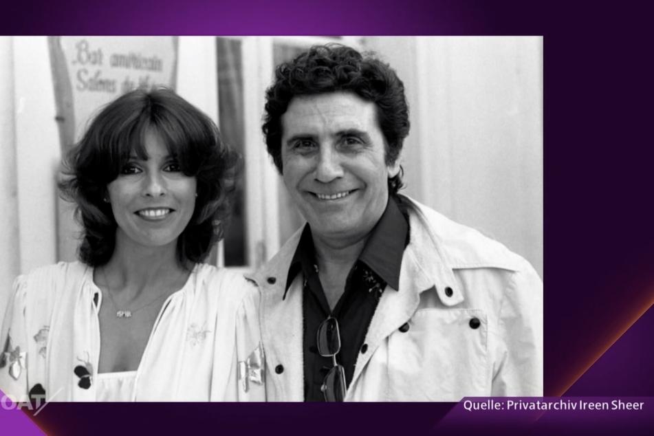 Eine junge Ireen Sheer (72) mit Schlagerstar Gilbert Bécaud (†): Aus den beiden wurde nie ein Paar.