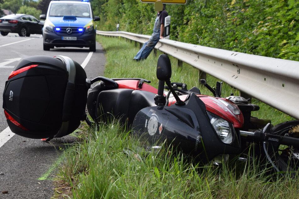 BMW kracht in Motorrad: Biker mit Rettungs-Heli in Klinik geflogen