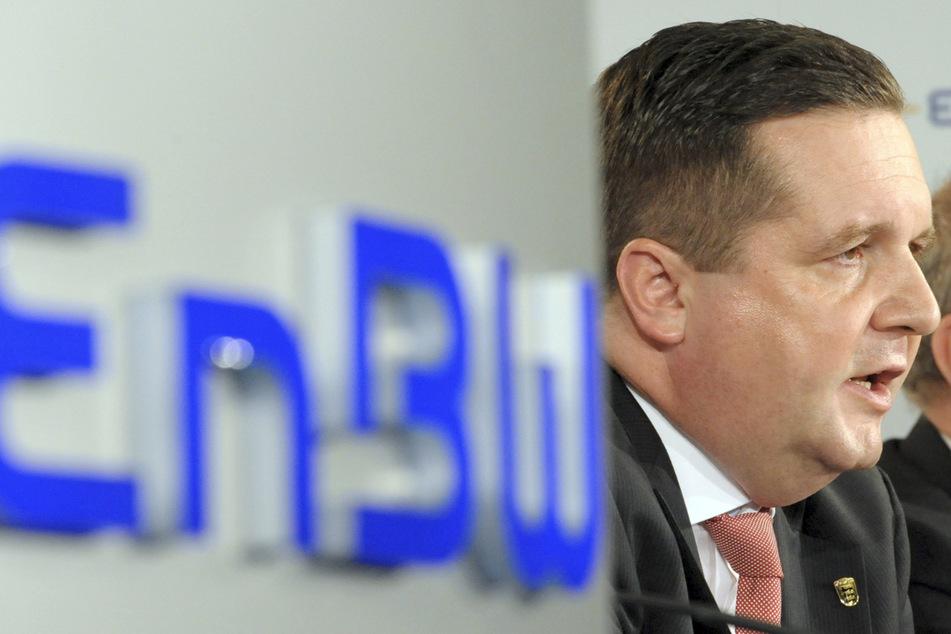 Der frühere Ministerpräsident von Baden-Württemberg, Stefan Mappus (54, CDU), äußert sich während einer Informationsveranstaltung zur Übernahme des Energiekonzerns EnBW durch das Land in der Firmenzentrale in Karlsruhe.