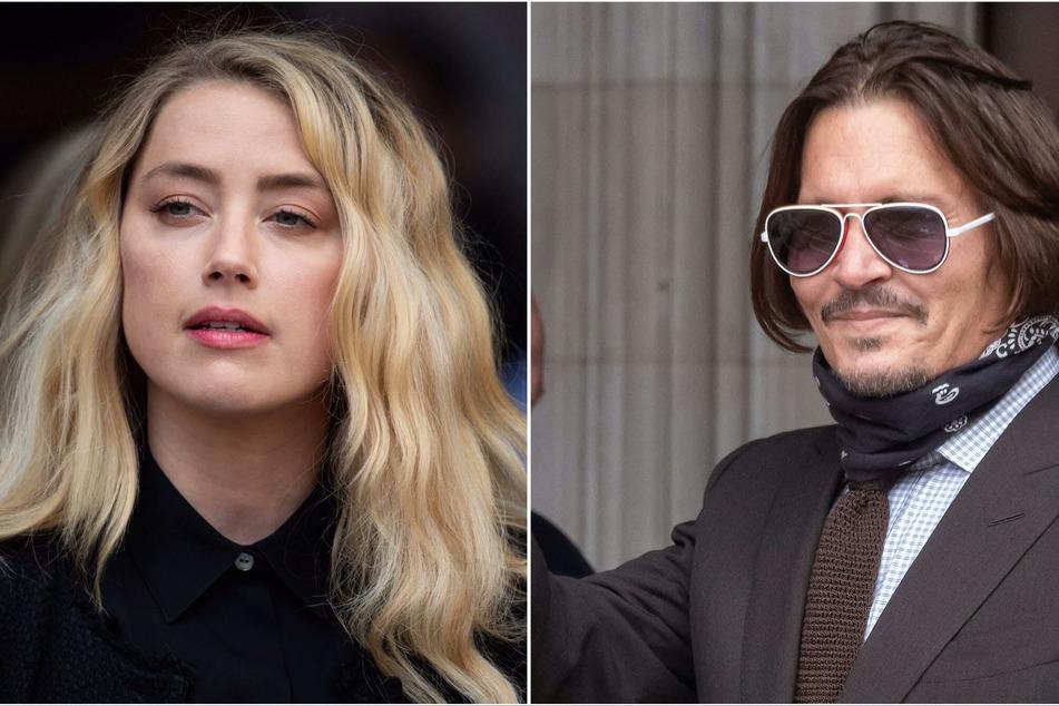 Johnny Depp (r) trended on social media following Amber Heard's (l) return to the Aquaman franchise.