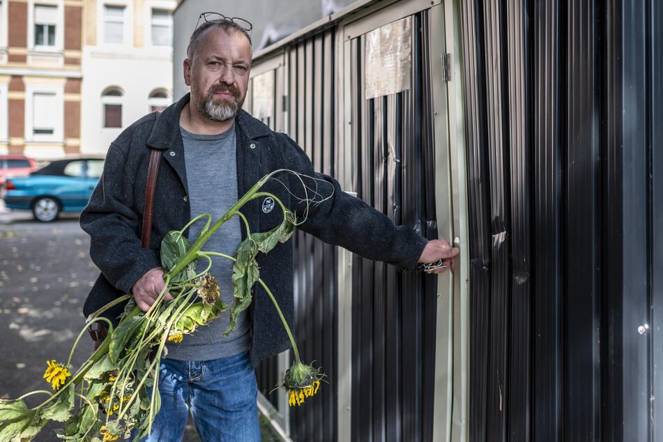 Vandalen wüteten am Wochenende im Zietenpark auf dem Chemnitzer Sonnenberg. Thomas Bossack (50) ist entsetzt über die Zerstörungswut der Randalierer.