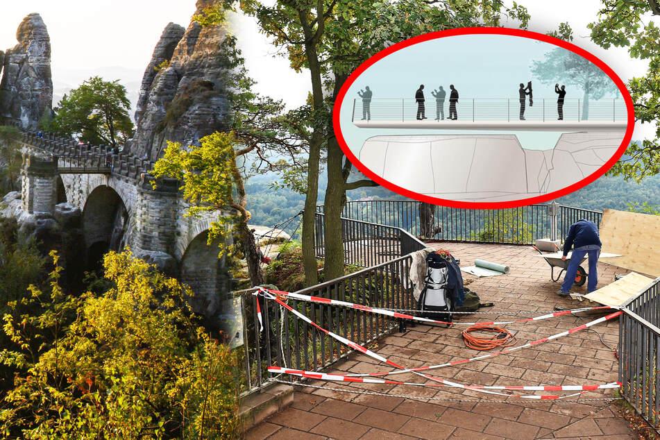 Bastei-Aussicht noch knapp zwei Jahre dicht! Bauarbeiten für neue Plattform starten