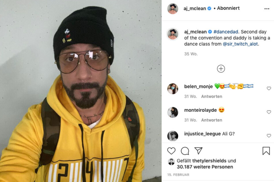 AJ McLean has worn a lot of things – even more ordinary outfits.