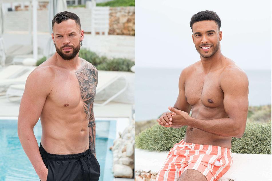 """Die ehemaligen """"Bachelorette""""-Boys Jamy Schröder (32, l.) und Manuel Schmidt (26)."""