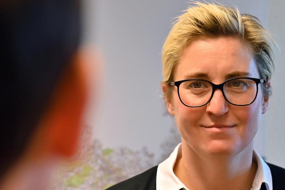Susanne Henning-Wellsow (42) ist Fraktionsvorsitzende der Linken-Thüringen.