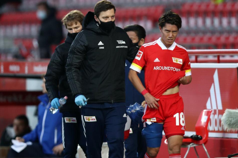 Keita Endo musste bei seiner Startelfpremiere gegen Arminia Bielefeld verletzt vom Platz.