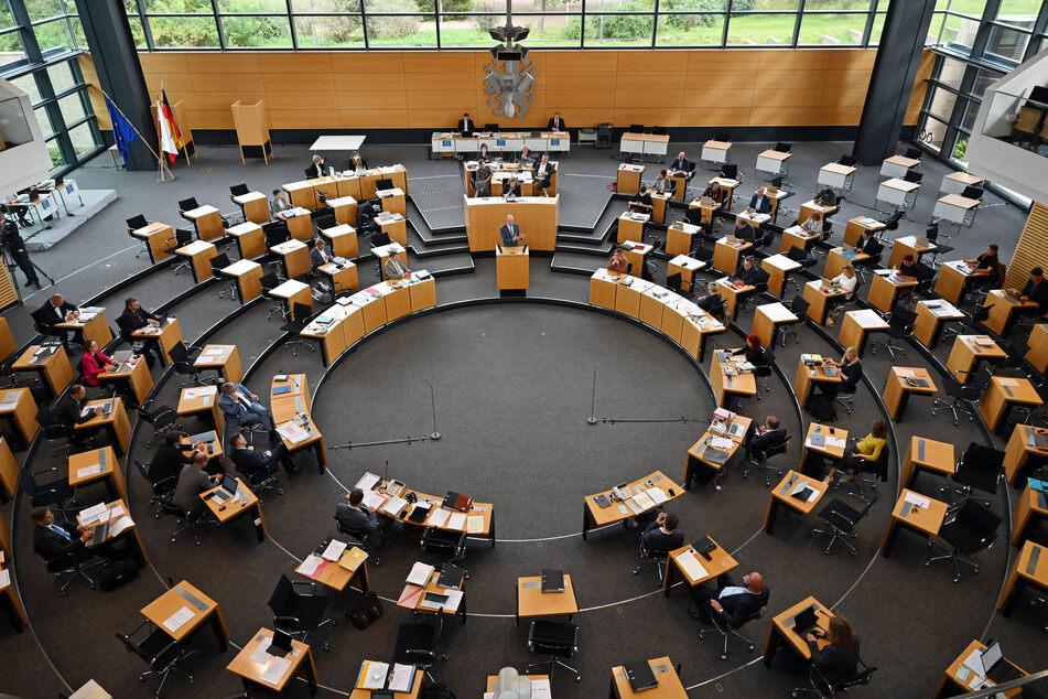 Blick in den Thüringer Landtag.