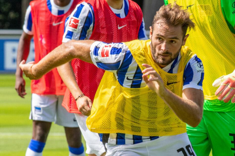 Hertha-Neuzugang Lucas Tousart beim Training.