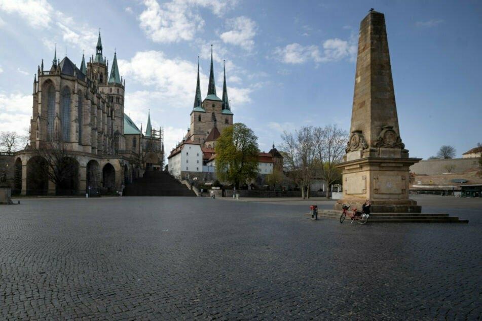 Der Domplatz in Erfurt. Die Stadt soll bundesweit die ungesündeste sein.