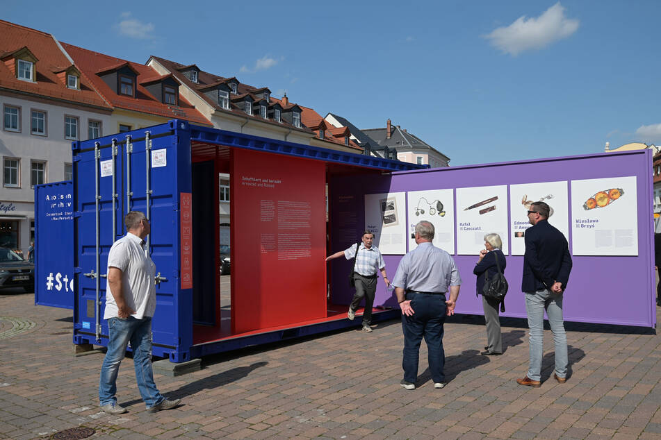 Die Freiluftausstellung wandert quer durch Deutschland. Frankenberg ist der einzige Ausstellungsort in Sachsen.