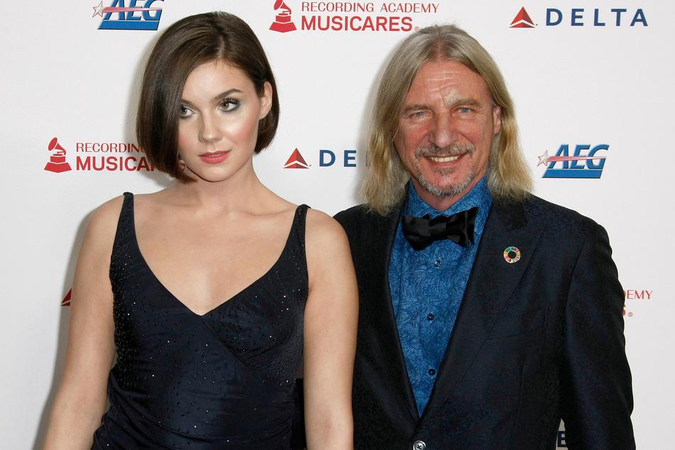 Von 2015 bis 2020 datete Frank die 40 Jahre jüngere Nathalie Volk.