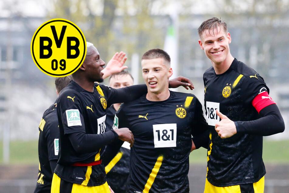 BVB II feiert dank mehrerer Profis nächsten Sieg und steht dicht vor Aufstieg in 3. Liga!