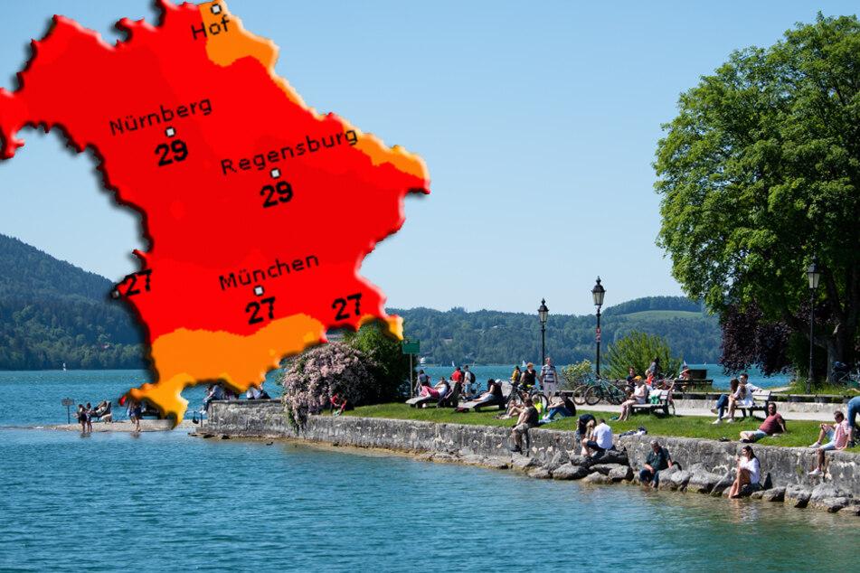 Erst sommerlich, dann regnerisch: Das Wetter in Bayern am Wochenende