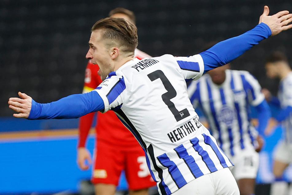 Peter Pekarik jubelt über seinen Treffer beim Stadtderby gegen Union.