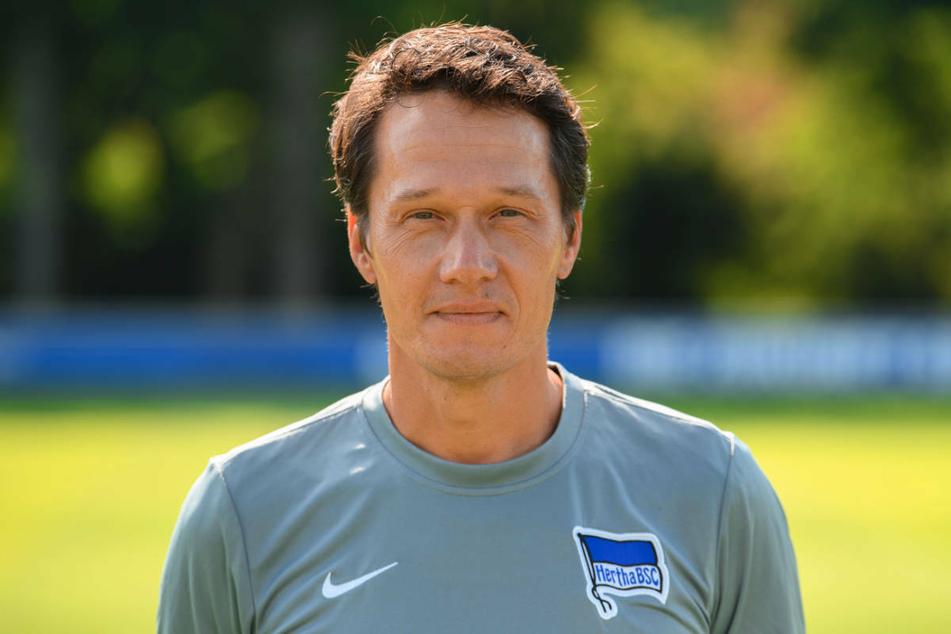 Herthas Athletik-Trainer Henrik Kuchno (47) kann die Spieler während der Quarantäne nur mit Online-Einheiten fit halten, sieht die Mannschaft aber auf einem guten Weg.