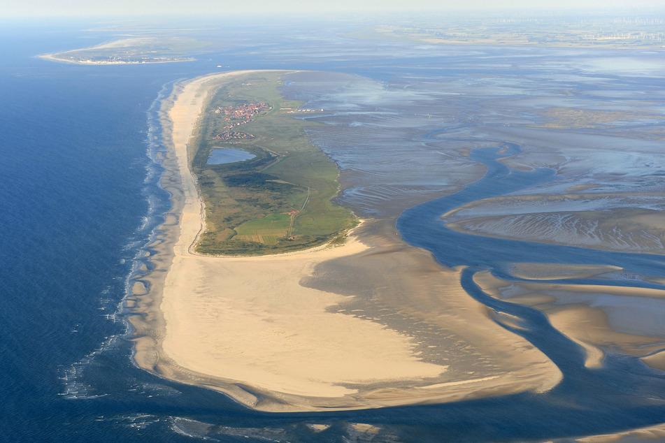 Luftaufnahme der ostfriesischen Insel Juist.