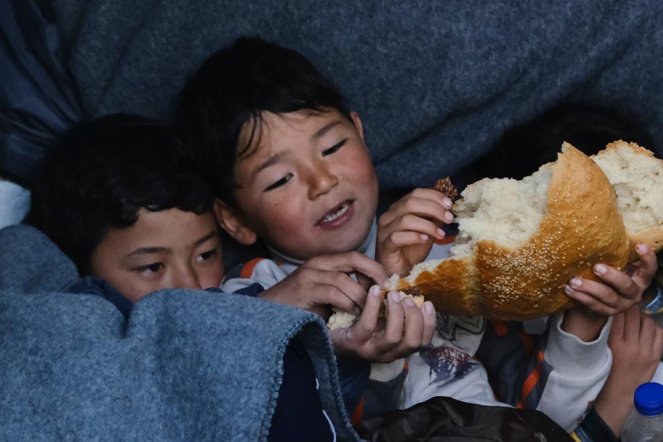 Unter den Flüchtlingen sind auch viele Kinder.