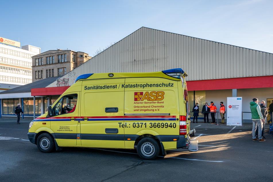 Das Chemnitzer Impfzentrum befindet sich im ehemaligen Netto-Markt in der Wilhelm-Raabe-Straße 6.