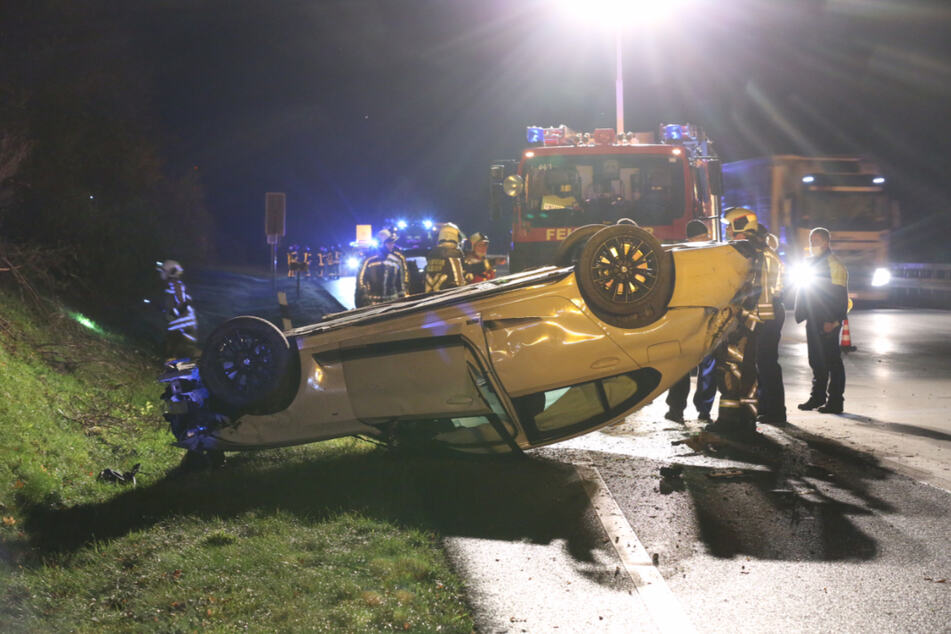 Die Freiwilligen Feuerwehren aus Wilsdruff und Klipphausen warem am Unfallort zur Stelle.