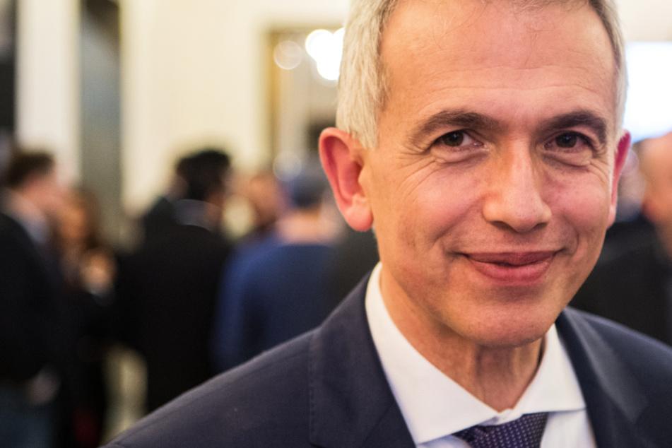 Das Foto aus dem März 2018 zeigt Frankfurts Oberbürgermeister Peter Feldmann (62, SPD).