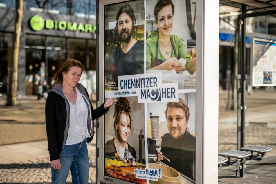 Chemnitz: Chemnitz: Kunstschau auf 50 Citylights