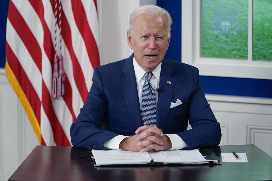 Joe Biden, Präsident der USA, spricht bei einem virtuellen Corona-Gipfel.