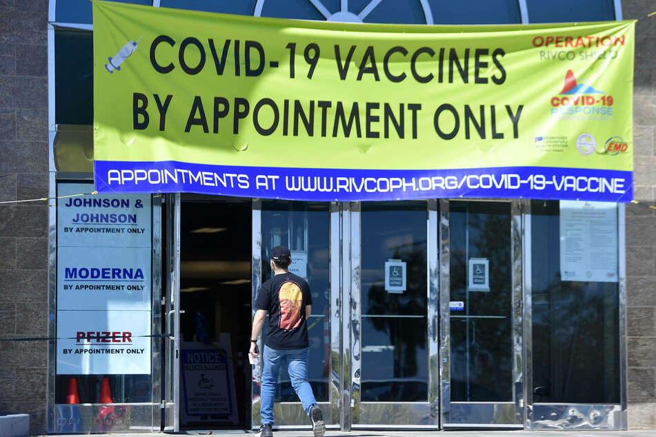 Vaccines are being administered at Moreno Valley Mall in Moreno Valley, California.