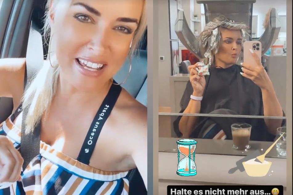 Frisch vom Friseur strahlt Daniela Katzenberger (34) in die Kamera - endlich hat sie ihr blondes Ich zurück!
