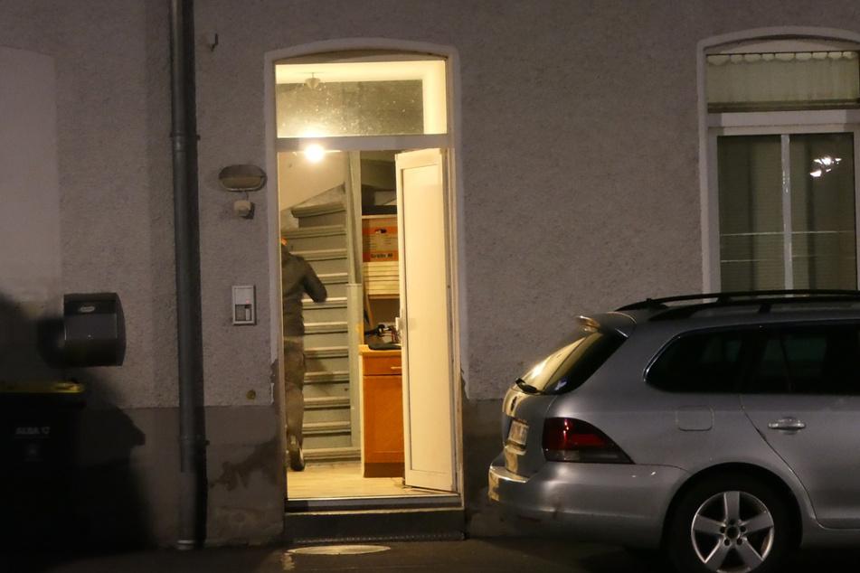 Auch in Naunhof im Landkreis Leipzig wurde am Mittwochabend ein Gebäude durchsucht.