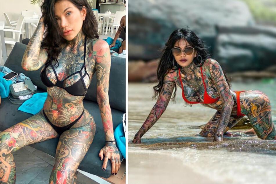 """Thai-Model ist zu 98 Prozent tätowiert: """"Mein Körper ist ein Kunstwerk"""""""