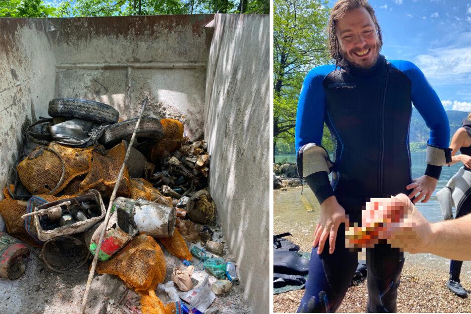 1550 Kilo Müll: Verrückt, was Umweltschützer hier aus einem See fischen!